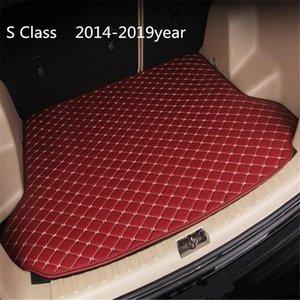 Car anti-skid trunk mat, waterproof leather carpet flat mat, flat mat suitable for Mercedes-Benz S Class 2014-2019year