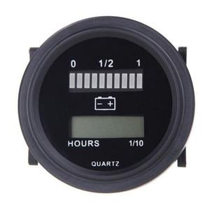 12V / 24V / 36V / 48V / 72V LED Digital-Batteriestatus Ladeanzeige mit Stundenzähler schwarz