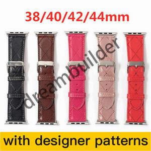C Moda Tasarımcısı Watchbands Watch Band 42mm 38mm 40mm 44mm IWatch 2 3 4 5 Bantlar Deri Kayış Bilezik Çizgili Watchband Ücretsiz Kargo