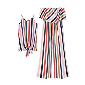 Mutter und Tochter Kleidung Mama und Tochter passende Outfits Mutter- und Tochterkleider Familien-Matching-Kleider Strandkleider 308 K2