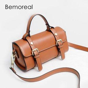 Bemoreal Petit Messenger femmes sac à main en cuir de Split Mode oreiller couleur unie sac Casual bandoulière