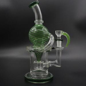 Уникальный Grenn Line Spinner Rig 9 дюймов Bubbler Oil Rig Str Strip Color Flass Бесплатная доставка OnClude Бесплатная чаша