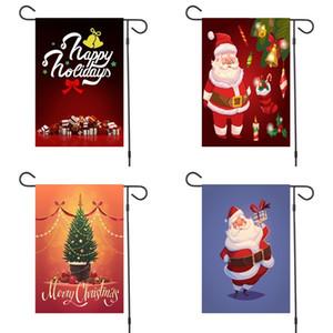 Открытый двор Украшение Баннер Merry Christmas Gifts 2020 Сад Flag Создание Атмосфера Bow Флаги Бесплатная доставка 6МХ F2