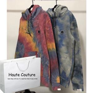 Femmes / des hommes Tie Dye Sweats à capuche Mode Garçons Hiphop Streetwear Active Running Sportwear 2020 Nouveau Top Vêtements 2 Couleurs 2020 Nouveau gros