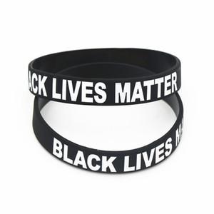 Vente chaude Black Lives Minie Bracelets Bracelets pour hommes Femmes Noir Silicone Caoutchouc de caoutchouc CNE Livraison rapide
