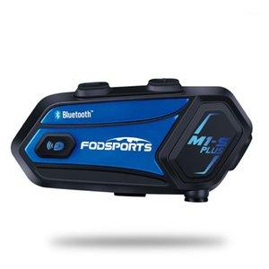 FODSPORTS M1-S PLUS Домофон Мотоциклетный шлем Bluetooth Гарнитура 8 Riders 2000M Intercomunicadores Moto FM Music Sharing1
