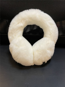 Good Quality Earmuffs Real rabbit fur plus velvet winter warm fashion earmuffs soft 2 colors Classic style