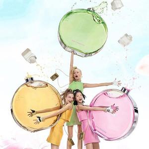 Profumo per le donne Fresco Fragranza Lady Profumo Pink Green Yellow 3 Color Fragranza Aroma 100ml Consegna gratuita veloce