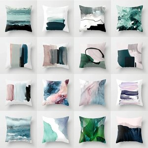 Abstract Oil Painting Cushion Cover Nordic Style Polyester Pillow Cover Decorative Throw Pillows for Couch Christmas Pillow Case
