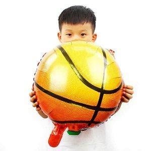 10pcs 18 İnç Basketbol Balonlar Dekoratif Alüminyum Folyo Spor Temalı Kutlama Mylar Balonlar Doğum Günü Partisi Balonlar wmtHQR