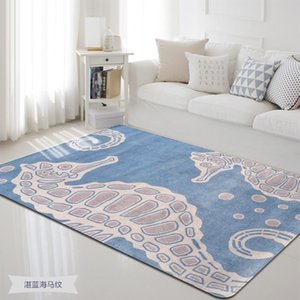 Cute Seahorse pattern Print Rugs Plush Antiskid Floor Mat For Home Living Room Bedroom Shaggy tapete Rug Kids Room Soft Carpets