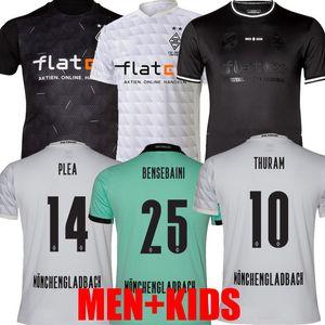 120th Inniversary 20 21 Mönchengladbach Soccer Jersey Men Kids Gladbach 2020 21 Monchengladbach Zakaria Blea Black Borussia Football Commir