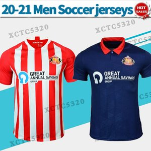 2021 선더랜드 a.f.c. 축구 유니폼 홈 레드 20/21 남자 축구 셔츠 짧은 소매 맞춤형 축구 유니폼