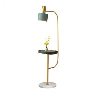 Nordic Floor Lamp LED Lights Sala Sofá cabeceira quarto Varanda Simples americano pós-moderna de mármore Vertical Tea Table