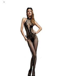 Hot Backless Bodystockings Schwarz Erotische Fischnetz Sexy Body Anzug Transparente Strumpf Kimono Pyjamas Nachtwäsche Kleid Für Frauen S926