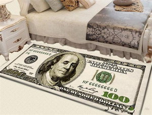 Creative Non-Slip Area Rug Modern Home Decor Carpet Runner Dollar Printed Carpet One Hundred Dollar 100 Bill Print Carpet