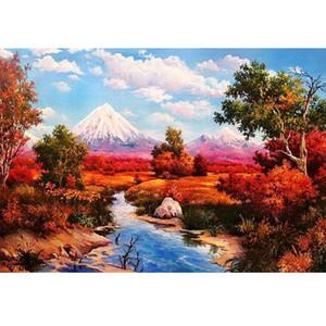 Landschaft Diamant Mosaik voller Hauptdekoration Geschenk Kunsthandwerk Satz Q1106 5D DIY Kreuzstich Malerei