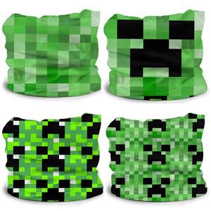 Minecraft tutta larghezza stampato Ice sciarpa di seta per i bambini Struttura della pelle-friendly traspirante acqua-assorbente rapida essiccazione soft Turbante Epacket
