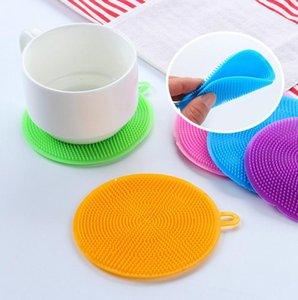 Dish Bowl Scovolini per pulizia multifunzione Paglietta Pan Pot Wash Spazzole Dishcloth Coasters pulitore della cucina del piatto di lavaggio strumento IIA799