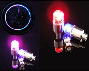 Colorful Bike Cycling Motor Car Tire Tyre lights Valve Cap Stem Wheel LED Light Lamp sensor gas nozzle lamp Bicycle Accessories