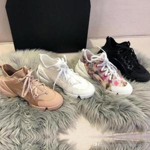 الربيع الصيف منصة عارضة الأحذية الأزياء الزهور الرياضية امرأة أحذية الترفيه الطباعة الدانتيل يصل سميكة أسفل البولينج حذاء كبير الحجم 35-42