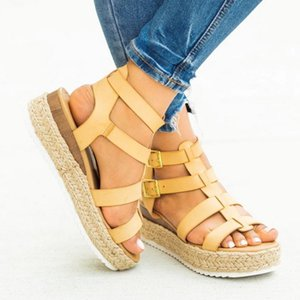 Summer Women Shoes Flat Beach Sandals Ladies Fashion Roma Flat Solid Peep Toe Sandals Casual Shoes Sandales Size 2020 Fashion