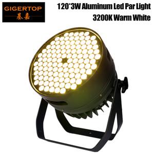 Freeshipping Warm White 120x3w Indoor LED Par Leuchte 3200k Kaltweiß / RGBW optional still Arbeitskühlung Lüfter Großer Aluminium-Kühlkörper