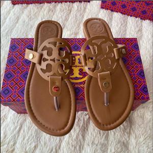 2020 New H-tipo Chinelos Moda coreana Plano Heel sapatos de couro sandálias de praia Sandals Mulheres Verão Withoutbox 34-42
