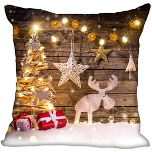 Christmas Style Deer Pillow Case For New Year Decorative Pillows Cover Square Zippered Merry Christmas PillowCases 40X40,45X45cm