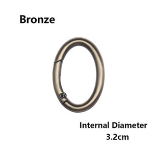 1 Pc Spring Oval Ring Zinc Alloy Plated Bag Belt Buckles Clips Handbags Clips Snap Bottle Hooks Outdoor Carabiner Accessories Q bbyDuT
