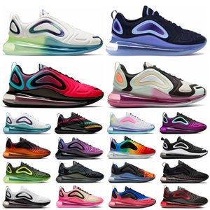 Kabarcık Paketi ObisiDian 720 Erkek Kadın Koşu Ayakkabıları 720s Hyper Menekşe Gerçek Olmak Üç Kişilik Siyah Beyaz Serin Gri Spor Açık Sneakers