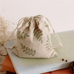1pc Small Medium Big Cotton Linen Fabric Bags Birthday Wedding Party Favor Gift Bags Drawstring Packaging Storage Pouches