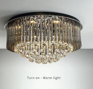 أسود ديكور المنزل السقف الثريا الحديثة الكريستال مصباح لغرفة النوم الفاخرة غرفة المعيشة الثريات تركيبات الإضاءة
