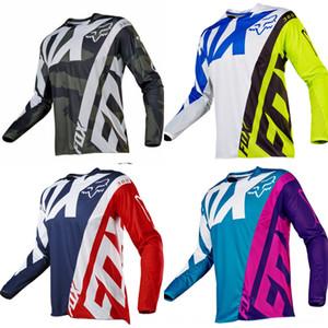 Fox kafa tilki TLD hız aşınmasını bisiklet aşağı uzun Bisiklet Sporları w kros spor uyacak Motosiklet takım elbise yarış üst yaz motosiklet sleeve