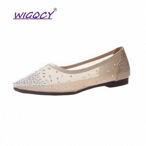 Punta puntiaguda Bling Rhinestone plana zapatos de mujer 2019 zapatos de verano de la moda de las mujeres de la moda de la moda de hadas de la moda de la moda de la hembra ocasional # 5b3t