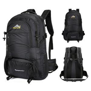 Mochila de campismo ao ar livre Trekking impermeável 60l saco grande capacidade de caminhada de ciclismo escalando a mochila esportiva
