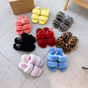 2021 عيد الجديدة المرأة أطفال الاطفال فتاة الفراء أحذية النعال السيدات الأحذية الدافئة لطيف زائد الصنادل داخلي النعال عارضة المنزل فروع فروع femmes أحذية