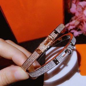 Brand Pure 925 Sterling Silver Jewelry For Women Lock Belt Bangle Circle H Wedding Jewelry Fashion Party Luxury Bracelet MX190727