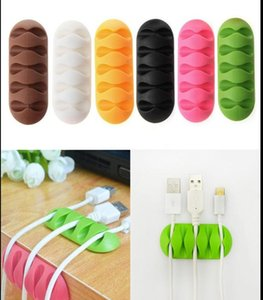 Colorful Usb Charger Cord Holder Easy Self Adhesive Backing Line Drop Clips Organizer Tpr Wire Cord Cable Desk Tidy Holders