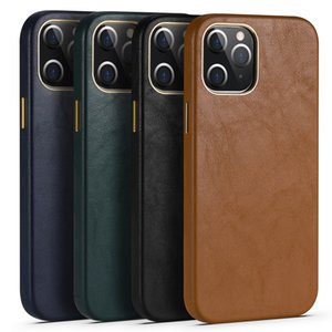 Luxury Leather Cases For iPhone 12 mini 11 Pro Business Drop Protector Phone Cover For iPhone 12 11Pro Max SE 2020 Huawei Mate40 P40