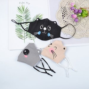 Free shipping new cotton children cartoon masks dustproof and breathable student reusable washable masks sunscreen adjustable masks