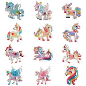 Accessoires pour bébés Cheveux Cartoon Licorne Enfants Fille Kid Boutique bricolage Flying Horse cheveux accessoires 12 Designs