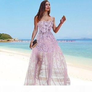 Pink Black DRESS straps backless maxi bridal wedding bohemian bridesmaid robe high quality sequins embellished kimono sequin dress