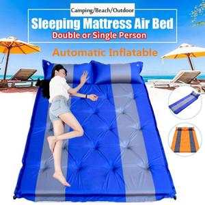 Single Double Outdoor Camping Mat Inflatable Bag Tent Sleeping Pad Ultralight Portable Picnic Air Mattress Camping Picnic Pad