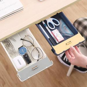 Schublade Aufbewahrungsbox versteckte Paste Aufbewahrungsschublade unter dem Tisch Aufbewahrungsbox untergehängt nahtlose Boxen Briefpapierhalter Fall Hauswerkzeuge DHC5540