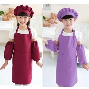 Solid Color Tablier Gouache Vêtements Enfants Fashion Accessoires Multi-Color Cuisine Fournitures Femme Homme Pinafore Noël 4 85ym K2