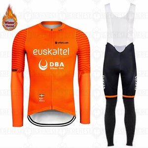 2020 Euskaltel Nouveaux hommes d'hiver Ensembles d'une édition compétitive thermique thermale extérieure en jersey chaud maillot de cyclisme BIB CULOTTE KIT VÊTEMENTS