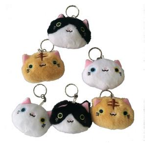 Cute Cat Fur Keychain Plush Toy Key Chain Cartoon Animal Key Ring Car Keyring Novelty Personalize Keychain Bag Pendant Accessory GWE2617