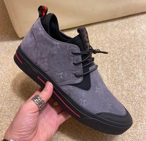 Casual homens QUENTELVLOUISVUITTONLuxo cores misturadas sapatos respirável moda artesanal Mocassins sapatos sociais 31 de inverno