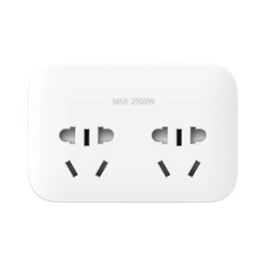 Original Xiaomi Mijia Power Socket Strip 2 Sockets Plug Extension Patch Board with 2 Control Switches
